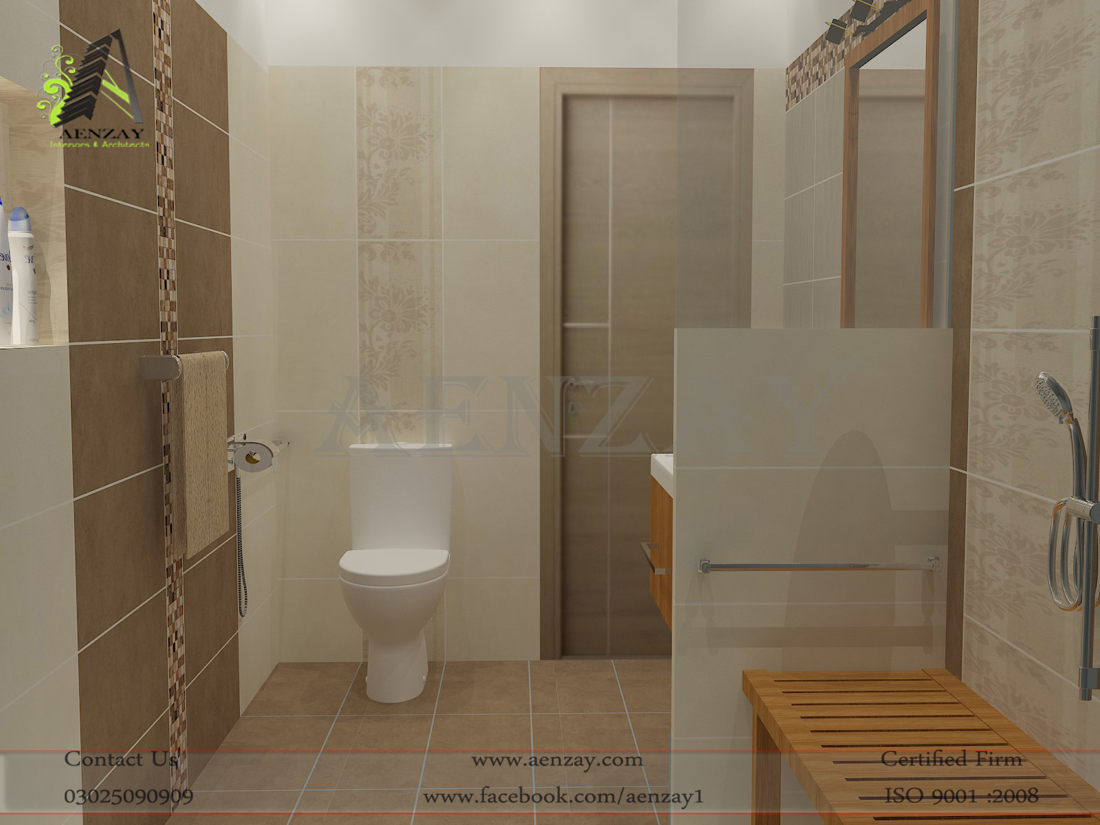 Bathro0m design by aenzay i a aenzay interiors for Interior designs bathrooms ideas